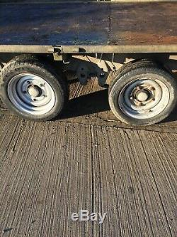 Ifor Williams Trailer, Flatbed, 3500kg, Twin Axle, Galvanised, Car, Transporter