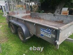 Ifor williams Gd105 Trailer twin axle 10ftx5ft rear ramp. 2.7t capacity