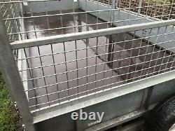 Ifor williams flatbed trailer mesh sides kit lm166 twin axle very clean