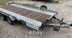 Indespension 14FT Car Trailer CT27147 Ex-Hire 2700KG Twin Axle Transporter