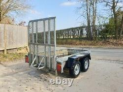 Indespension AD2000 8x4 mower quad Digger Plant Twin Axle Trailer £1100+vat