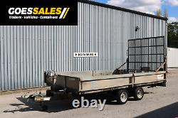 Indespension Plant Trailer 14 X 6.5 Twin Axle Big Ramp Leds Winch