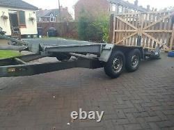 Indespension Twin Axle Tilt Bed Car Transporter Trailer With Winch 13ft 2600kg