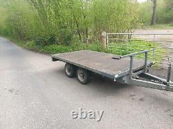 Indespension trailer-twin axle, 2600kg, flat bed 10-4ft x 5-6ft