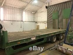 JPM Flatbed 18T, 24' Twin Axle Flatbed Low Loader Tractor Plant Digger With Hiab