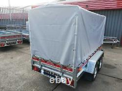 NEW Car trailer TEMARED Twin Axle 8'7 x 4'1 750kg + TOP COVER 110 cm