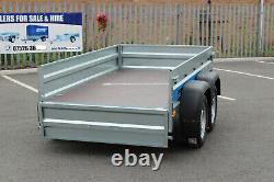 NEW Car trailer twin axle 8'8 x 4'2 Faro SOLIDUS 263cm x 125cm mesh