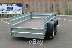 NEW Car trailer twin axle 8'8 x 4'2 Faro SOLIDUS 263cm x 125cm mesh 40cm cage
