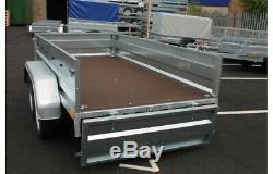 NEW Car trailer twin axle 8'8x4'3 750kg tipping tipper NEPTUN