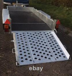 NEW IFOR WILLIAMS GH94BT 9ft TWIN AXLE BEAVER TAIL PLANT TRAILER, RAMPGATE + VAT