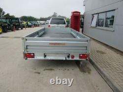 NEW Indespension FTL35146 14X6 Flat Bed Trailer Twin Axle Sides Ramp Spare Wheel