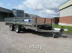 NEW Indespension FTL35146 Flat bed trailer, 3500KG, TWIN AXLE, SPARE WHEEL