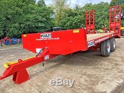 NEW MCCAULEY 7.5 TON LOW LOADER TRAILER, tractor, digger, dumper, jcb, dump