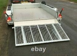NEW NUGENT P3118H 10ft TWIN AXLE PLANT TRAILER ALLOY FLOOR CLOSED IN SIDES+ VAT
