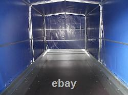 NEW TWIN AXLE Trailer Box Camping Car 9FT x 4FT 2,70 x 1,32 m +150cm TOP COVER