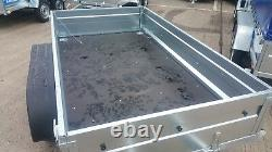 New Box Trailer 10ftx5ft Twin Axle Braked 1300kg Box Trailer Flatbed Trailer