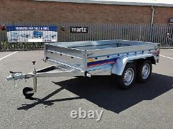 New Car Trailer 263 x 132cm Unbraked 750kg Twin Axle 8.7 x 4.4ft