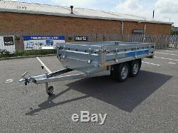 New Car Trailer MAGICUS flatbed 3 x 1.5 twin axle 750kg 9.10 x 4.11ft FLAT BED