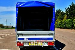 New Car Trailer Twin Axle 8,7ft x 4,4ft 750 kg with canvas cover H 140 cm