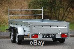 New Ladder Rack 4 Trailer 10ft X 5ft Twin Axle 750kg Flatbed + A Free Trailer