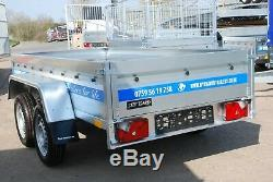 New Trailer 9x4 Twin Axle 1300kg Braked Cage Trailer With 80cm Mesh Sides Al-ko