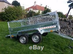 New trailer 8.7 x 4.1 twin axle-build, side and mesh
