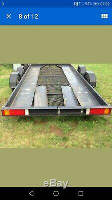 Old model Brian James twin axle car trailer transporter 16ft