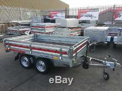 PLANT TRAILER 8ft x 5ft 750kg Twin Axle Tilting Removable Sides