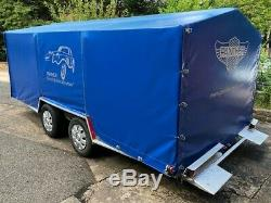 PRG Twin Axle Hydraulic Tilt Car Transporter Trailer with Cover and Manual Winch