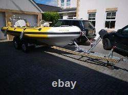 RIB Boat 5.95m on a Twin Axle Trailer