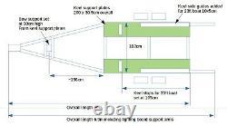RM Twin Axle, three tonne Bilge Keel Trailer for 23-26ft boats, sealed hubs