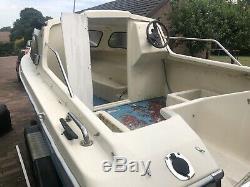 Shetland Family Four Boat Twin Axle Trailer 65 Suzuki Engine 16ft Resto Project
