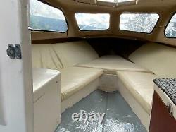 Shetland cabin cruiser with twin axle galvanized trailer