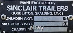Sinclair Twin Axle Horse Box Trailer Ideal Conversion Project Nr Brighton