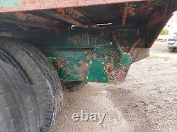 Single Axle Twin Wheel Hydraulic Flat Farm Tipping Trailer