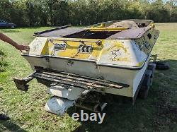 Speedboat / Jet boat, project, V8, with twin axle trailer
