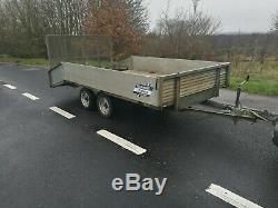 St Austell trailer like Ifor Williams Twin axle Plant Car Transporter 12ft
