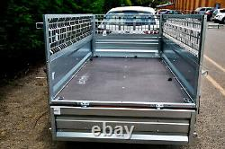 TWIN AXLE CAR TRAILER 8'7 x 4'1 750 kg CAGED SIDES