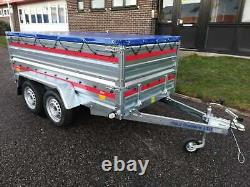TWIN AXLE CAR TRAILER 8'7 x 4'1 750 kg EXTRA SIDES
