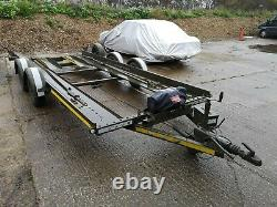 TWIN AXLE CAR TRANSPORTER TRAILER 2700kg BRIAN JAMES 3500LB WINCH 16FT BED
