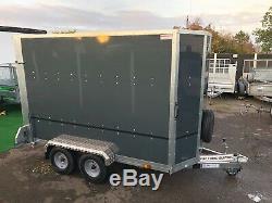 Tickners GT956 Box Van Twin Axle Ramp Door Shaped Front Trailer =9FT x 5FT x 6FT