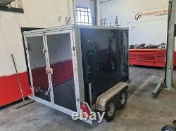 Tickners box twin axle go kart trailer