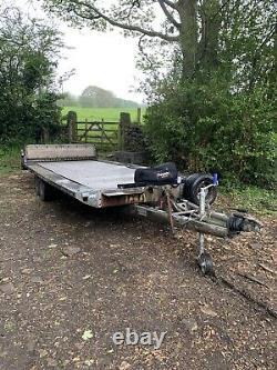 Tilt Bed Car Trailer/ Transporter, Twin Axle Trailer