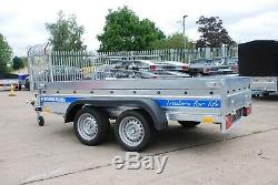 Trailer 10ft X 5ft 1300kg Twin Axle Braked With Canvas Cover