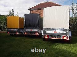 Trailer 9FTx4FT TWIN AXLE Box 2,70 x 1,32 m +150cm COVER