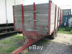 Trailer Agricultural Tipping Trailer Muck Trailer 8 Ton Twin Axle