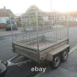 Trailer Cage Mesh Twin Axle Trailor Car Builder Landscapers Box Galvanised Sides