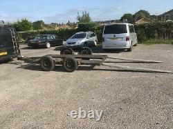Trailer car transporter twin axle