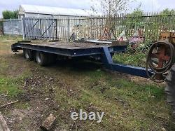 Trailer large 12 tonne twin axle drag beaver tail on air suspension 50mm tow eye