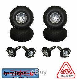 Twin ATV Trailer Kit inc Wheels, Hubs & Stub Axles (PCD 4/4)